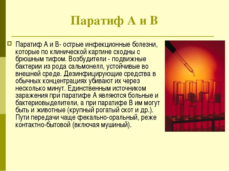 Паратифы А и Б